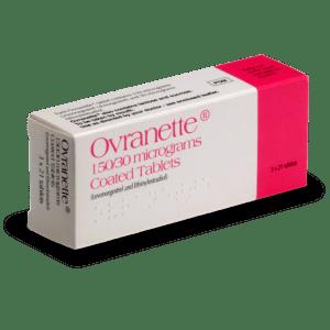 Boite de pilule Ovranette (Minidril)