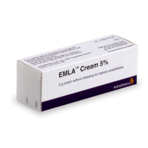 Crème Emla dans sa boite