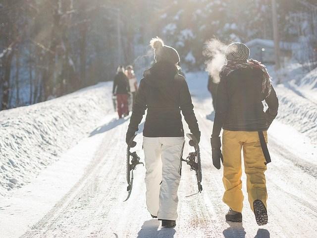 Marche par temps de neige
